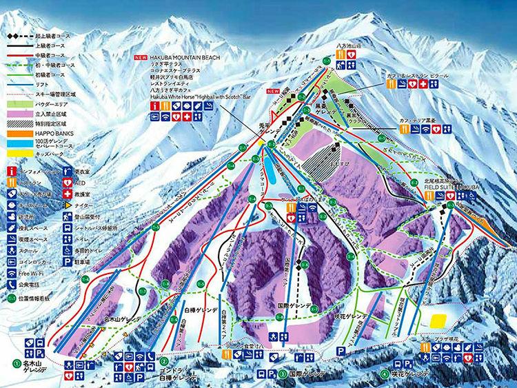 栂池高原スキー場 ゲレンデマップ