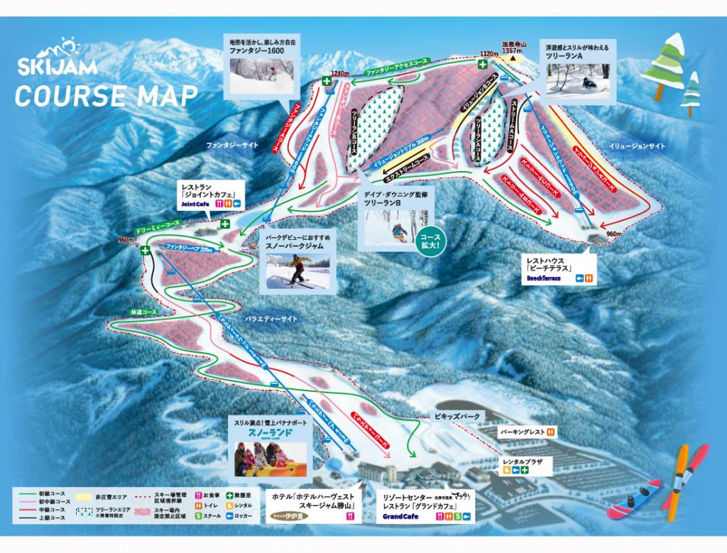 スキージャム勝山 ゲレンデマップ